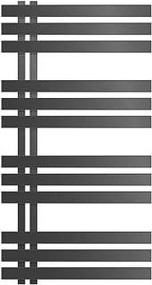 ECD Germany Radiador de toalla de diseño DHK Iron EM - 600 x 1000 mm - antracita - Radiador toallero agua calefaccion - Calentador de baño - Calefaccion de pared - No eléctrico -