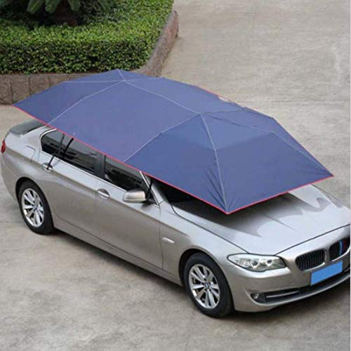PeroFors 400 * 210Cm 210D Oxford Cloth Car Shelter Umbrella Tent Roof Shade Cover Cover Roof Water Proof Anti Uv-Dark Blue