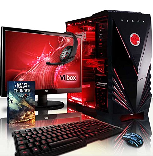 VIBOX Apache Paket 9XW - 4.1GHz Sechs Core, GTX 960 Desktop Gamer, Gaming PC, Computer mit Komplet Paket einschließlich: WarThunder Spiel Bundle, Windows 10 Betriebssystem, 22
