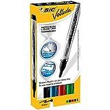 BIC Whiteboard Marker BIC® Velleda®, 2,2 mm, bl, sw, rt, gn, Schachtel à 4 Stück