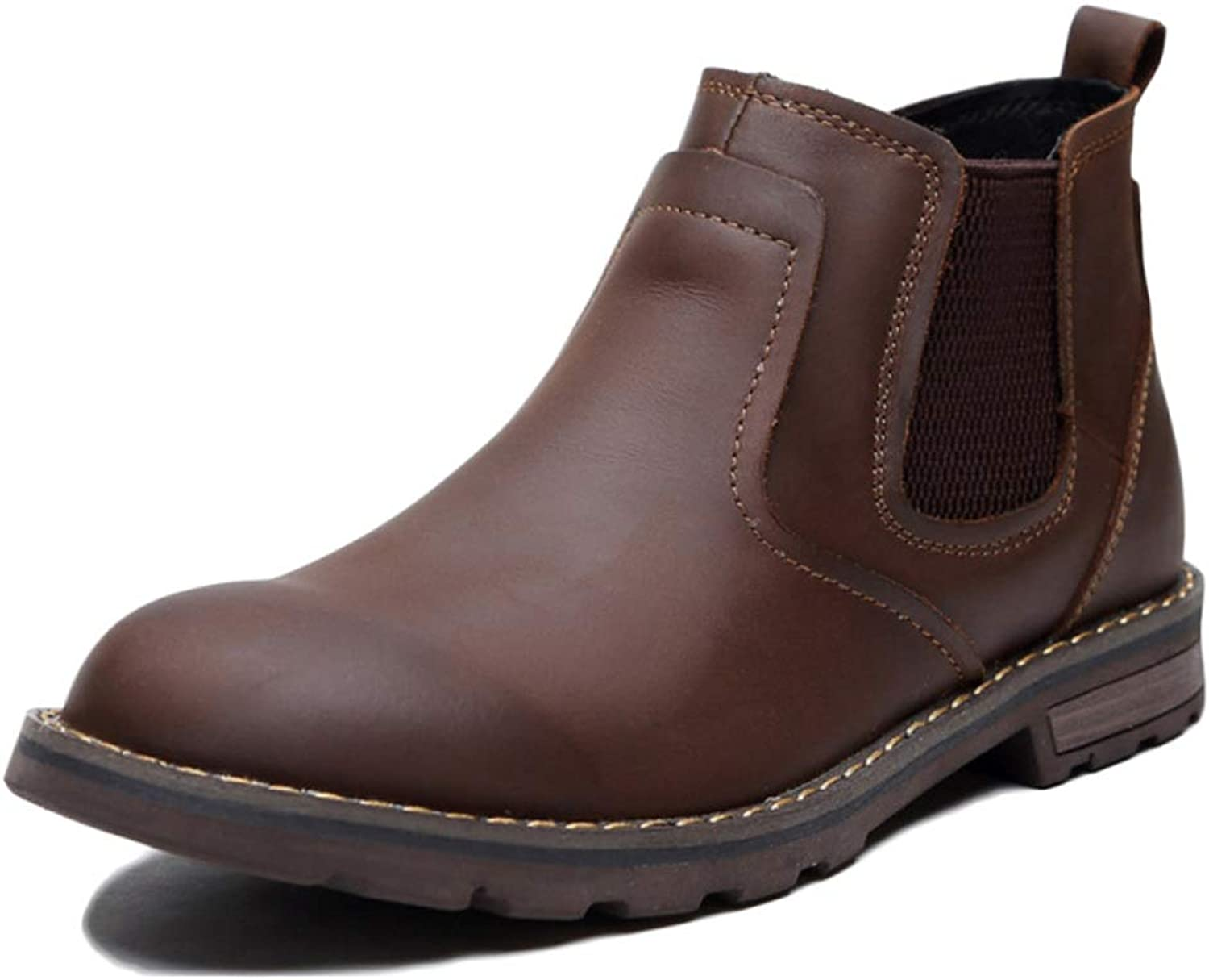 Men Chelsea Boots Autumn and Winter Leather Martin Boots Desert High-top shoes Men's Wedding Boots