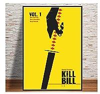 キルビル映画キャンバスにプリントアートポスター写真リビングルーム写真家の装飾ユニークなギフト(50x75cm)-20x30INフレームなし