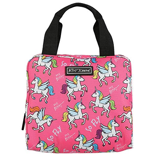 Betsey Johnson Insulated Print Lunch Tote Pink/Black One Size