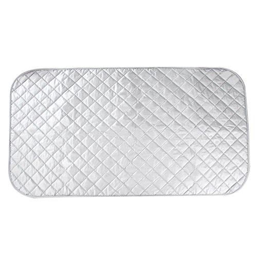 HOGAR AMO Bügeltischauflage Hitzeabweisende Beschichtung Bügelauflage Baumwolle Bügeldecke 48 * 85cm Dampfbügel Silber