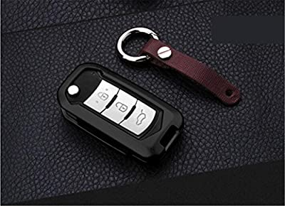 [MissBlue] Aircraft Aluminum Key Fob Cover For Trumpchi Remote Key, Protector Case Fits Trumpchi GS4 GS5 GA3 GA3S GA5 GA6 GAC GONOW E Beauty Car Key, New Unisex Leather Key Fob Keychain Key Fob Holder