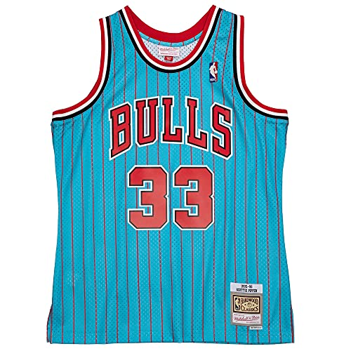 Mitchell & Ness NBA Reload Swingman Jersey Chicago Bulls S. Pippen Light Blue XL