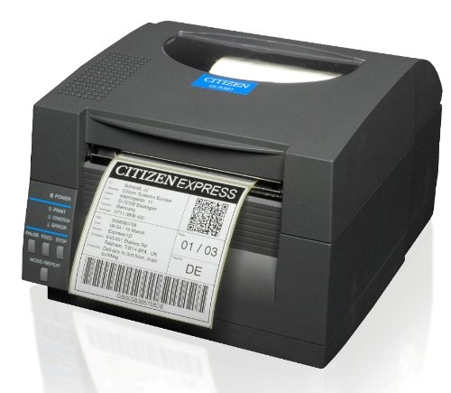 Citizen CL-S521 Thermodirekt Etikettendrucker, 8 Punkte/mm (203dpi), Cutter, ZPL, Datamax, Multi-IF (Ethernet), schwarz (1000815EC)