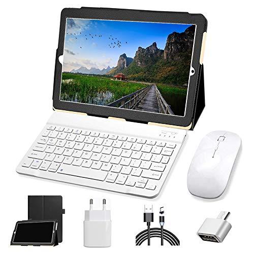 Tablet 10 Pulgadas 4G LTE Android 9.0 Tableta 4GB de RAM y 64GB Memoria con Dobles SIM, WiFi /GPS/Bluetooth Soporte - Oro
