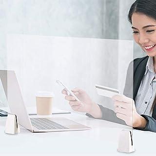 キングカニ くしゃみガードスクリーン、ポータブルルームディバイダー、トランザクションウィンドウ用の透明なアクリル保護バリア、カウンターオフィス用の分離シールド-19.69 x 12.60インチ