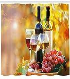 ajhgfjgdhkmdg Tonneau de vin Pays de Raisin Décoration de Rideau de Salle de Bain étanche antibactérien