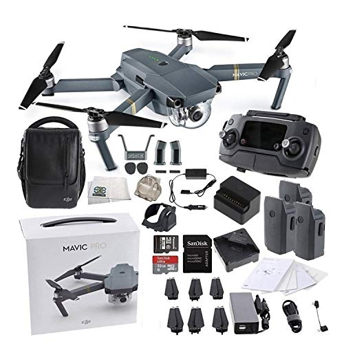 DJI Mavic Pro Fly More Combo Collapsible Quadcopter Drone Bundle