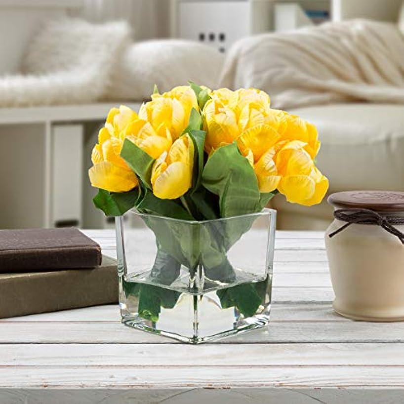 Pure Garden 50-137-YELLOW Silk Floral Arrangement