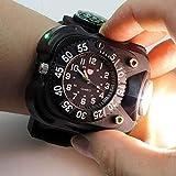 YLLN多機能家庭用3 In1超高輝度Led時計懐中電灯充電式防水トーチライトコンパス戦術懐中電灯アウトドアスポーツ