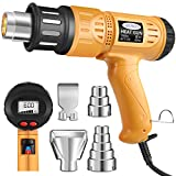 Heat Gun, Mowis 1800W Heavy Duty Hot Air Shrink Gun with LCD...
