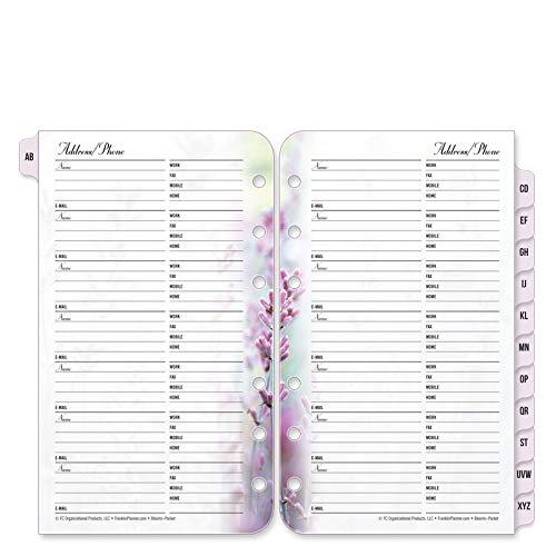 FranklinCovey Pocket Floral Blooms Address/Phone Tabs