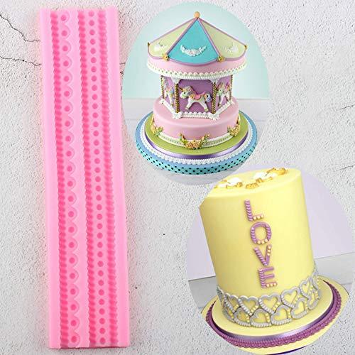 YEZIDE Kette Border -Silikon -Form -DIY Seil -Kuchen -Deckel -Fondant -Kuchen, dieWerkzeuge Süßigkeit Lehm SchokoladeMoulds