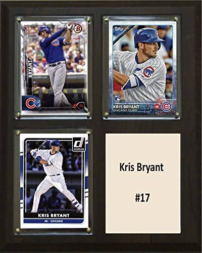 MLB Chicago Cubs Kris Bryant Three Card Plaque 8 x 10 Brown product image