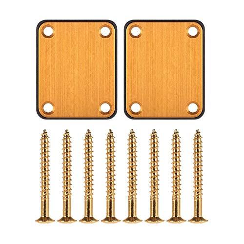 Gitarren-Halsplatten Aluminiumlegierung mit Schrauben und Kunststoff-Backboard Gitarren Parts for E-Gitarren-Zigarrenschachtel-Gitarren-Replacement Pack 2 PCS Graus für Gitarren Holzblasinstrument Zub