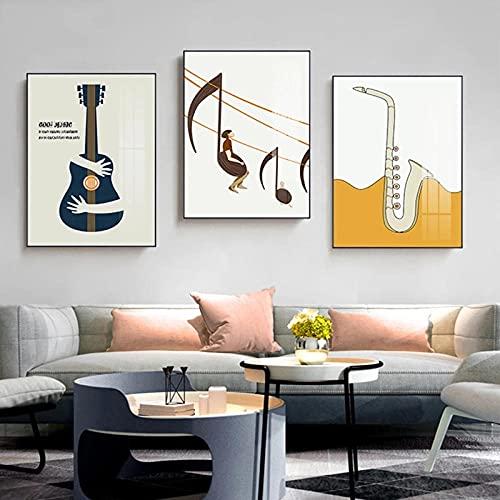 LNMHV Elementos Musicales Arte de la Pared Nota Musical Pintura en Lienzo...