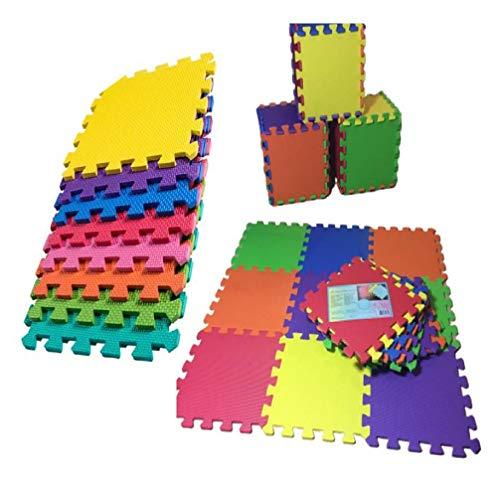 Alfombra goma puzzle rompecabeza para habitación de juego de bebe protectora de suelos para niños 9 piezas de espuma entrelazables multicolor Unisex Eva 31,5 cm para niño niña multicolor