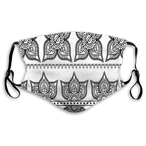 Winddichte Maske, antike Bordürenmuster mit von Lotus inspirierten verzierten Blumenfiguren Marokkanische Details