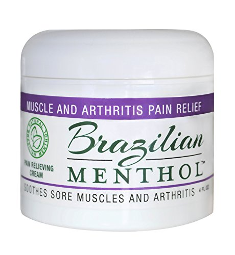 Brazilian Menthol Pain Relieving Cream, Cooling Pain Relief, Soothes Sore Muscles and Arthritis, Non-Greasy, Natural Menthol and Natural Epsom Salts, No Capsaicin, No Lidocaine