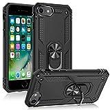 DOSMUNG Funda para iPhone SE 2020/8/7, Carcasa [360 Grados iman Soporte] [Anti- Choques] [Anti- Arañazos] [Protección a Bordes y Cámara] Case para iPhone SE 2020/8/7, Negro