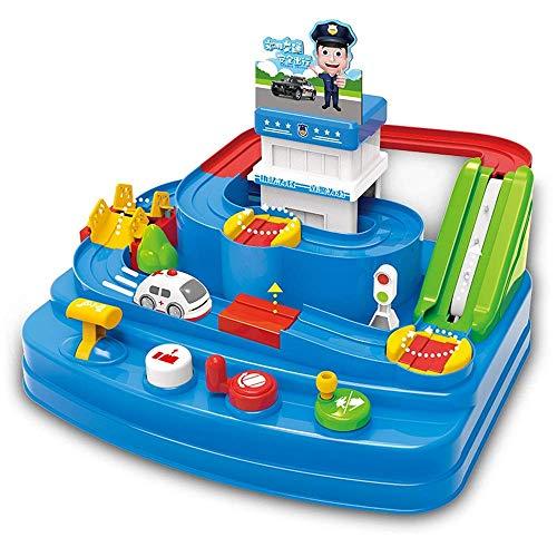 Detazhi Holz Block Auto Spielzeug-elterliche interaktives Rennen Spielzeug-Kinder-Eisenbahn-Auto-Spielzeug-Zug-Stadt-Track Pädagogisches Spielzeug-Set (Farbe: Mehrfarbig, Größe: Freie Größe)
