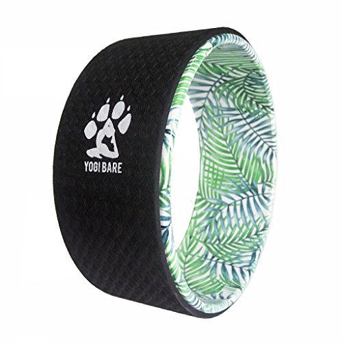 Yogi Bare Yoga Stretching Wheel Non Slip - Improve Mobility, Relieve Tension - 12' FOAM - Flexibility and Support Aid - 33cm x 13cm - PALM TREE