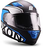 SOXON ST-1000-RACE, Casco da moto. uomo, Racing Blue, L (59-60cm)