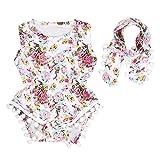 IMJONO Bébé Ensemble, 1Set Nouveau-né Bambin Petites Filles Combinaison Florale Combinaison Romper Vêtements de Sunsuit (12-18 Mois, Rose)