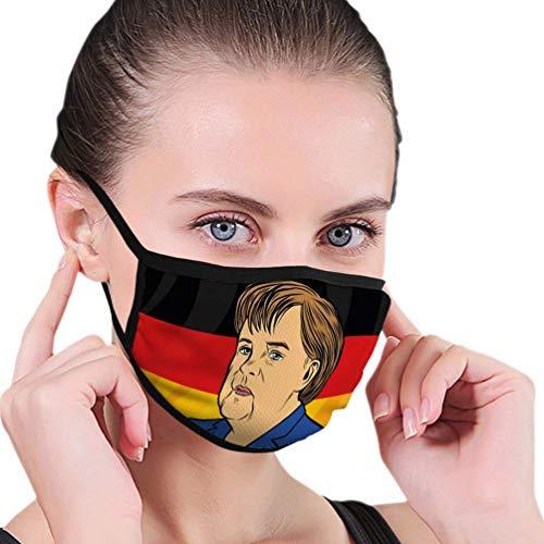 Mundbedeckung Gesicht Scraf Bundeskanzlerin Angela Merkel Deutsche Flagge