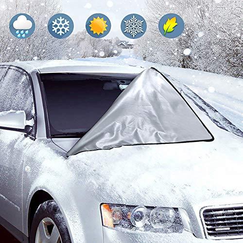 Orlegol Protezione Parabrezza Antighiaccio, Copertura Parabrezza Auto Anti-UV Anti-Neve Anti-Gelo, Telo Parabrezza Auto, Magnetico Telo Copri Parabrezza per la Maggior Parte dei Veicoli (210 x 120 cm)