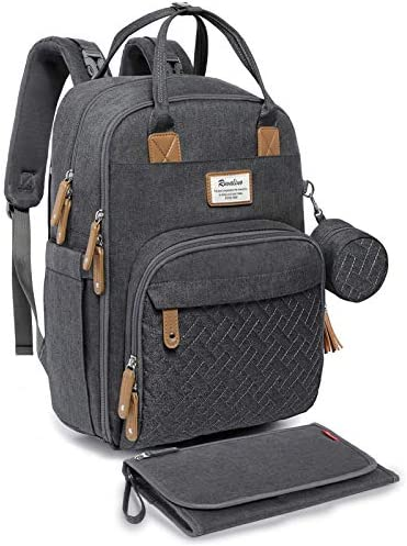 Diaper Bag Backpack RUVALINO Neutral All in One Baby Bags for Boy Girl Multifunction Large Travel product image
