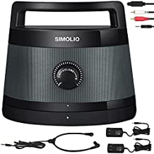 SIMOLIO Wireless Portable TV Speakers with TV Audio Listening Assistance, Voice Highlighting TV Speakers for Hard of Hearing, Seniors and Elderly, 100ft Range, Extra Headset & 2 Adapters -SM-621D
