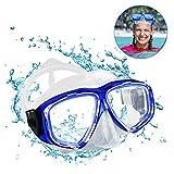 opamoo Taucherbrille Erwachsene Schwimmbrille Anti Fog Ohne Leakage Schnorchelbrille UV Schutz 180°...