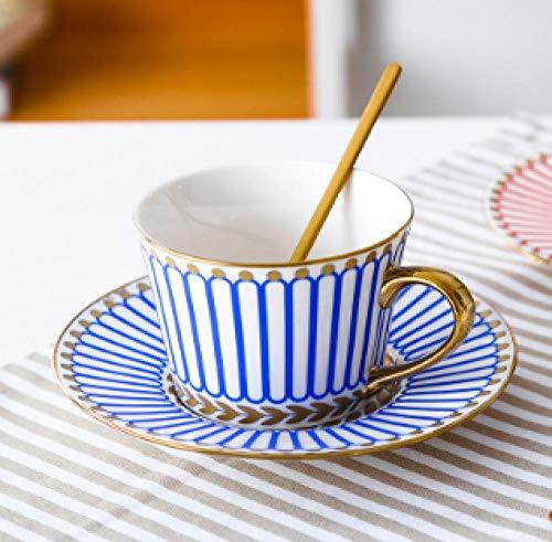 Yrtdf Bone China Titan Gold Phnom Penh Keramik Kaffeetasse Europäische Tasse Untertasse Set Englische Blume Tee Nachmittagstee Geschenkbox 150ml