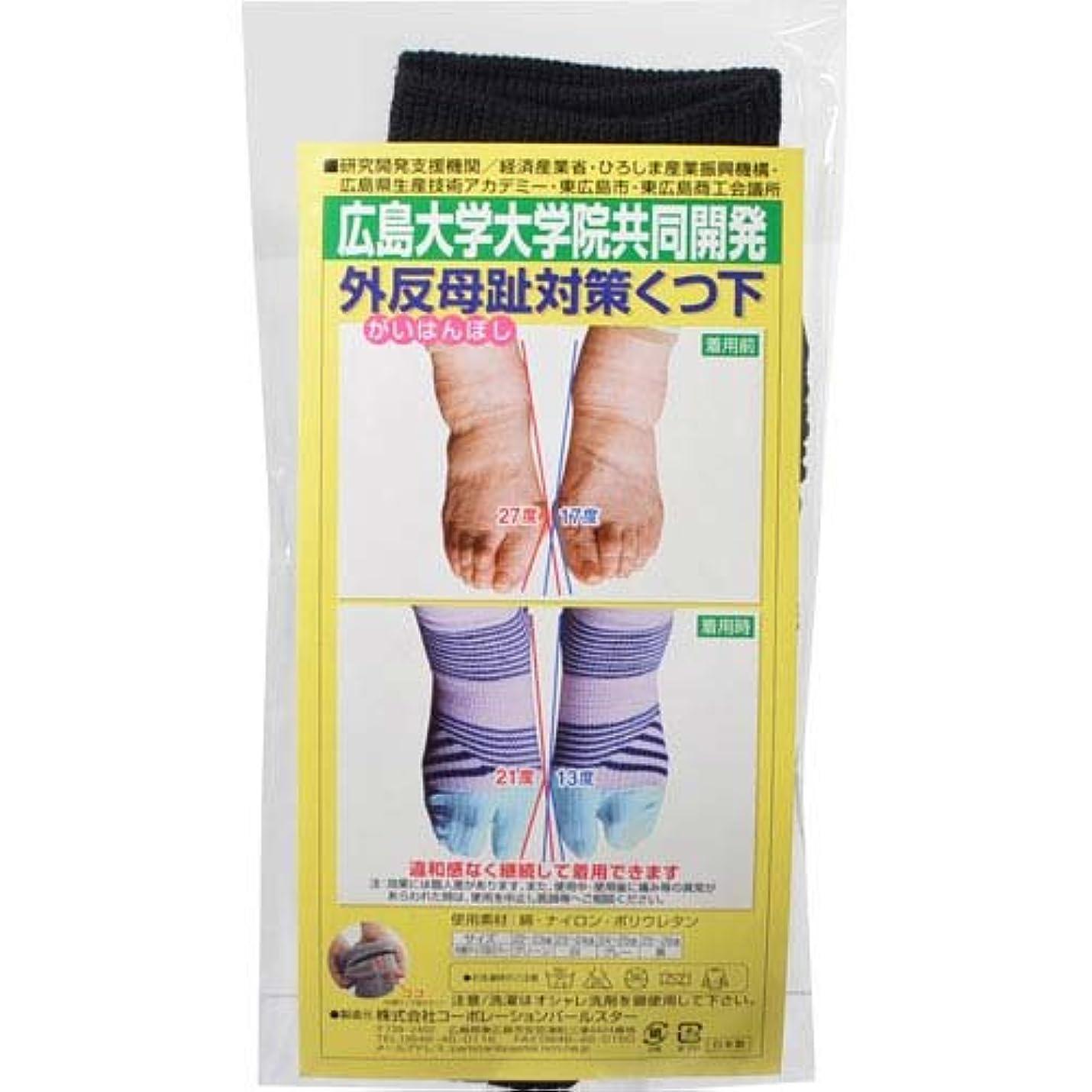デンプシー遅滞肺炎蘭華 外反母趾対策靴下 黒 22-23cm