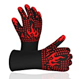 Bulkings Grillhandschuhe, Hitzebeständige BBQ Handschuhe bis zu 800°C,Kochenhandschuhe rutschfeste...