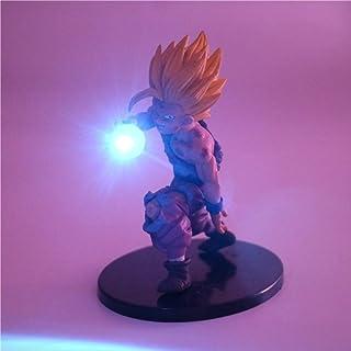 Dragon Ball Z Son Gohan Anime Led Light Super Saiyan Son Gohan Pvc Acción Figura Juguete Noche Luces Dragonball Z Juguetes Azul