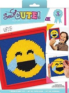 Colorbok Sew Cute Emoji Happy Tears Needlepoint Kit