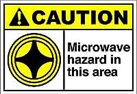 このエリアのマイクロ波危険警告 メタルポスター壁画ショップ看板ショップ看板表示板金属板ブリキ看板情報防水装飾レストラン日本食料品店カフェ旅行用品誕生日新年クリスマスパーティーギフト