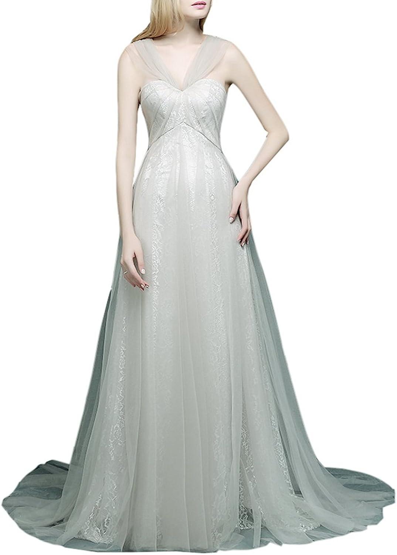 Emmani Women's Offtheshoulder Aline Formal Evening Gown Wedding Dresses