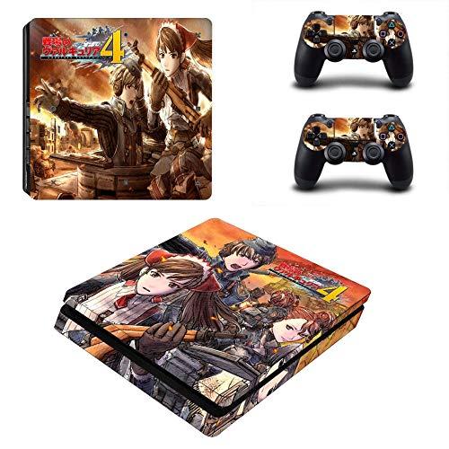 FENGLING Valkyria Chronicles 4 Ps4 Slim Skin Sticker Decal pour Playstation 4 Console Et Contrôleur Ps4 Slim Skins Autocollants Vinyle