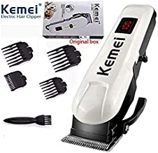 Men's Bass Rechargeable Hair Clipper Shaver LCD Monitor Cordless Electric Professional Shaver Beard Trimmer Beauty Shaving Machine Self Haircut Hair Clipper Love Pet Styling