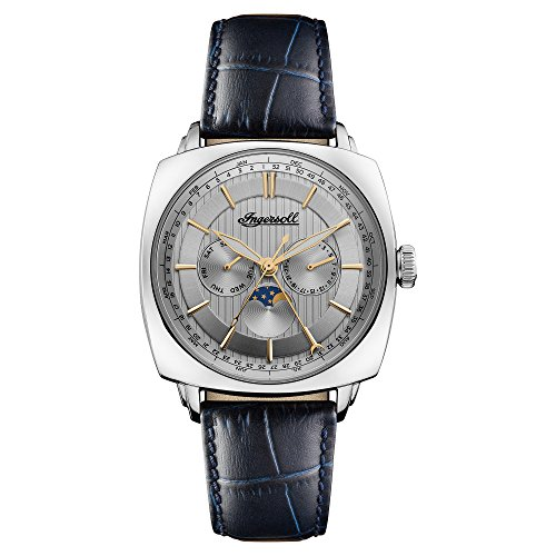 Ingersoll Herren Datum klassisch Quarz Uhr mit Leder Armband I04101