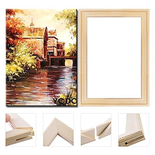 YCDC Marco de lona de madera maciza, juego de barras de madera de pino de alta calidad, para pinturas al óleo, impresiones de pósteres, suministros de accesorios para manualidades, 40,6 x 50,8 cm