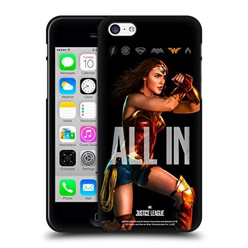 Head Case Designs Ufficiale Justice League Movie Wonder Woman Poster Cover Nera in Morbido Gel Compatibile con Apple iPhone 5 / iPhone 5s / iPhone SE 2016