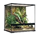 JKGHK Terrario de Vidrio para Reptiles, Natural con Pantalla, jaulas de ventilación, terrario, Grande para Anfibios, Dragones barbudos, lagartos, gecos, Adornos para Tanques de Serpientes