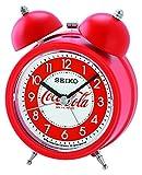 Seiko QHK905R Coca-Cola Bell Alarm Clock-Red, 13.5 x 9.5 x 6 cm